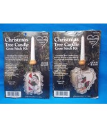 Whats New 27105 & 27110 Bunny Rabbit Christmas Tree Candle Cross Stitch ... - $10.88