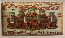 5 Cents Coke Bottles Old Poster Light Switch Outlet Wall Cover Plate Home Decor image 6