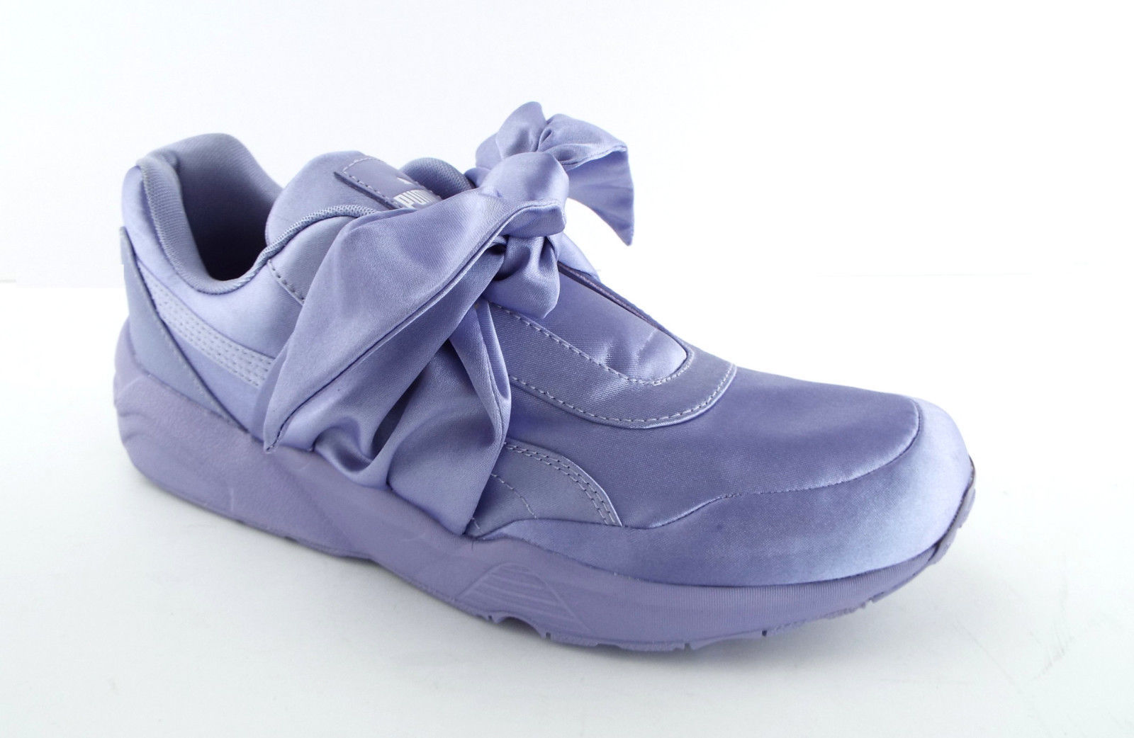 New PUMA RIHANNA Size 9 FENTY Purple Satin Bow Sneakers Shoes image 3
