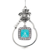 Inspired Silver Teal Class of 2018 Classic Snowman Holiday Christmas Tre... - $14.69