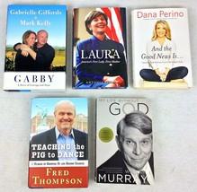5 Books GABRIELLE Giffords LAURA Bush DANA Perino FRED Thompson WILLIAM ... - $29.10