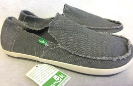 Sanuk Rounder Hobo Sidewalk Surfer Shoes Mens Size Us 8 Woven Slip On Loafers - $39.99
