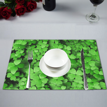 """(Set of 4) 12"""" x 18"""" Clover Leaves St. Patrick Plate Place Mat - $25.00"""