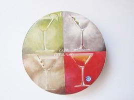 Artland Classic Cocktail Plates Set 4 Martini Design With Recipes On Bac... - $9.89