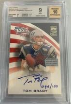 2002 Topps Super Bowl XXXVI MVP Tom Brady AUTO PATCH /150 BGS 9 MINT AUT... - $11,879.99