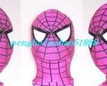 Hot Pink Spider Hood/Mask Unisex Lycra Spandex Spiderman Mask Hood Piece S920