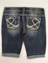 SILVER JEANS SALE Buckle Super Low Thick Stitch Tuesday Denim Jean Short... - $19.97