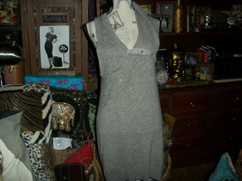 NANETTE LEPORE OONAGH BY Picturesque Heather Gray Cashmere Dress Size M - $39.60