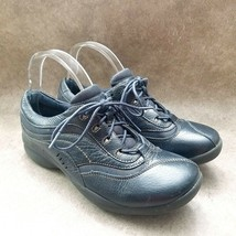 Clarks Womens  68771 Sz 9 M Blue  Leather Lace Up Casual Sneakers - $31.99