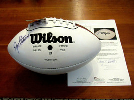 JOE PATERNO PENN STATE HOF HEAD COACH SIGNED AUTO VTG WILSON FOOTBALL JS... - $494.99