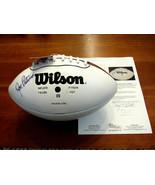JOE PATERNO PENN STATE HOF HEAD COACH SIGNED AUTO VTG WILSON FOOTBALL JS... - $494.99