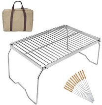 RUBY-Q Folding Campfire Grill, Portable and Heavy Duty 304 Stainless Ste... - $40.00