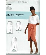 Simplicity Sewing Pattern 10430 Misses Sarong Skirt Size 4-12 - $8.99