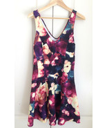 New Abercrombie & Fitch Purple Watercolor Floral Sleeveless Deep V-neck ... - $34.64