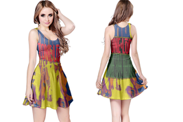FUNKY COLD MEDINA  WOMENS REVERSIBLE SLEEVELESS SHORT MINI DRESS - $17.99+