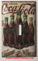 5 Cents Coke Bottles Old Poster Light Switch Outlet Wall Cover Plate Home Decor