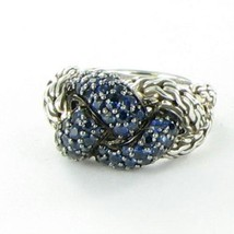 John Hardy Classic Chain Lava Small Braided Blue Sapphire Ring Sz 7 New ... - $872.99