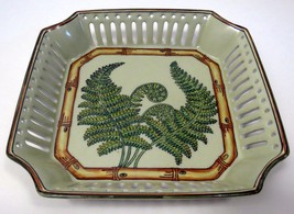 Andrea Sadek Fern Collection by Siddhia Hutchinson Bowl Dish Plate Kitch... - $29.65