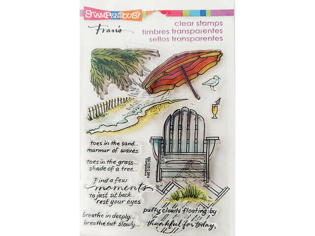 """Stampendous Clear Cling Stamp Set """"Seaside Chair"""" #SSC1225"""