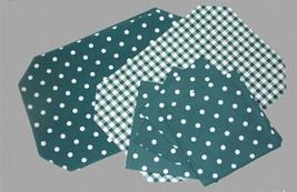 8 Pc Octagon Teal Reversible Polka Dots & Checks Placemats & Polka Napki... - $34.99
