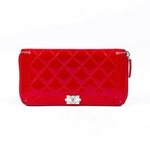 Chanel Boy L-Gusset Quilted Wallet - $735.00
