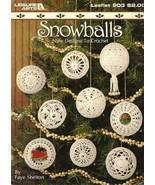 Y033 Crochet PATTERN Book ONLY 9 Crochet Snowballs Christmas Ornament Ho... - $16.50