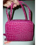 WOMEN'S PINK OR PURPLE FAUX CROC LEATHER ORGANI... - $12.99