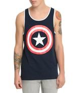 Marvel Captain America Logo Tank Top Men's S, M, L, XL - NWT - $11.68