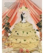 Y037 Crochet PATTERN ONLY Yummy 3 Tier Wedding or Anniversary Cake with Roses - $10.50