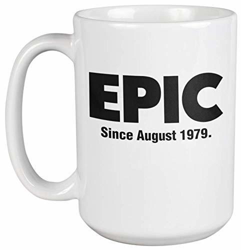 Epic Since August 1979 Fun Classic Awesome Slang 40th Birthday Coffee & Tea Mug  - $24.49