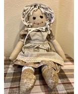 """Handmade Cloth Rag Doll Soft Cuddly Handcrafted 18"""" Doll - $44.95"""