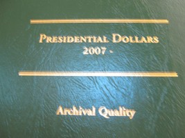 Presidential Dollars , 2007-2012 , 24 Uncirculated  Dollars , Folder - $50.00