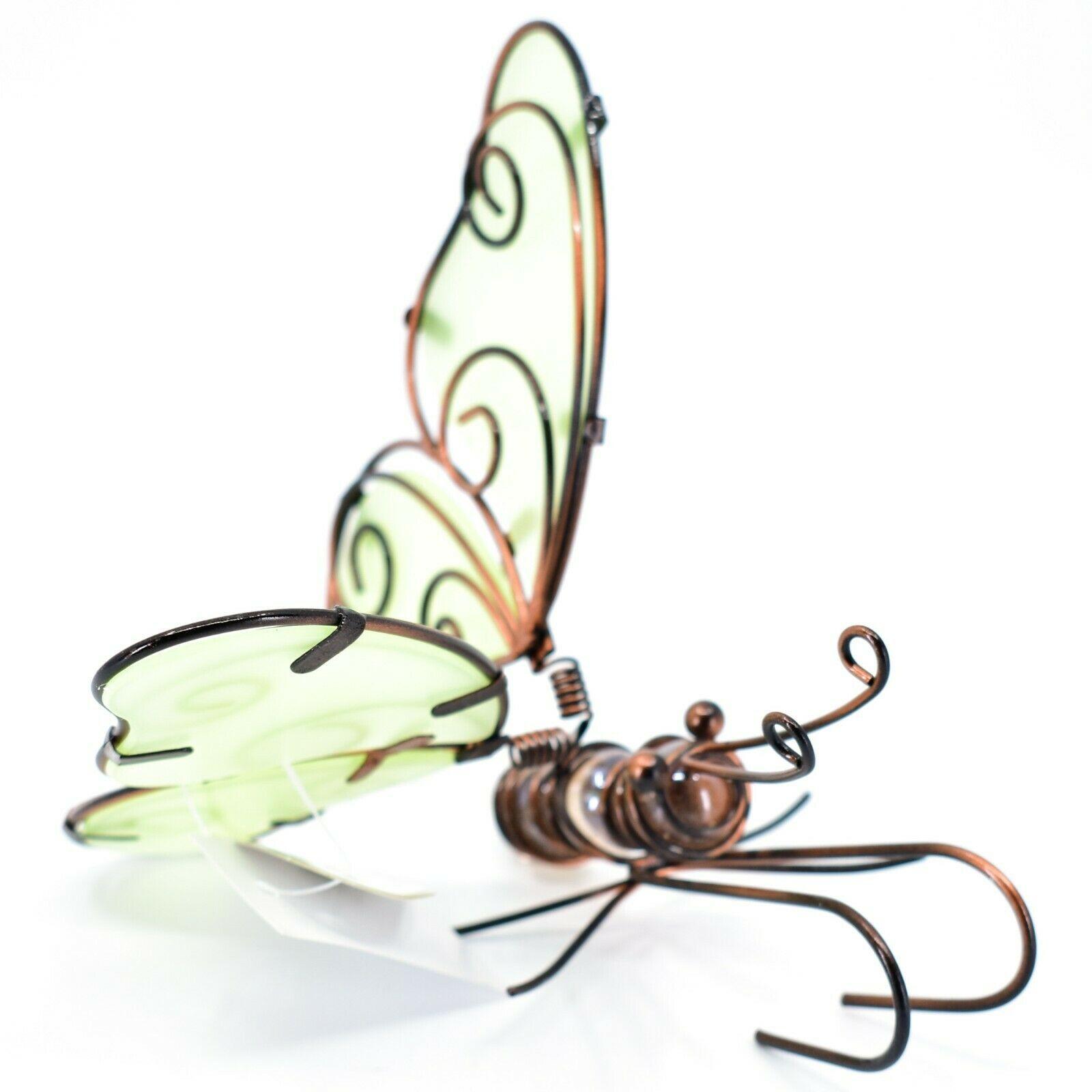 Butterfly w Glow in the Dark Wings Pot Edge Sitter on Hook Garden Decoration