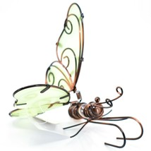 Butterfly w Glow in the Dark Wings Pot Edge Sitter on Hook Garden Decoration