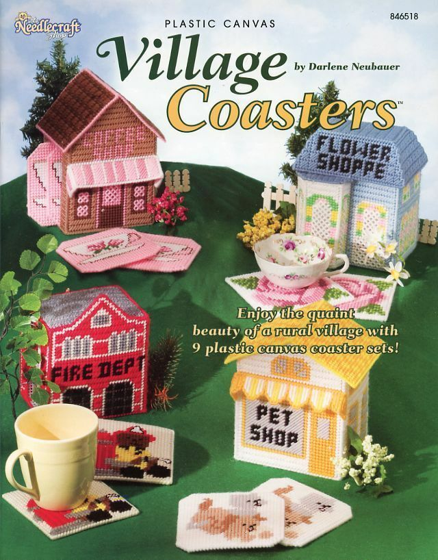 Village Coasters TNS Plastic Canvas Pattern/Instructions Booklet NEW