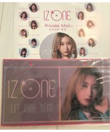 3-point Set IZ * ONE Cheyon Nameplate Coaster flyer ticket music female ... - $30.65