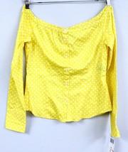 LRL Ralph Lauren YELLOW Polka Dot 100% Cotton Peasant Blouse Top S NWT $69 - $44.00