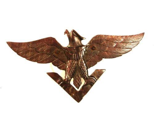 World War II American Eagle Victory Sweetheart Abalone Brooch Unbranded 91215 - $123.74