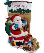 Bucilla Santas Visit Toys Puppy Dog Christmas Eve Felt Stocking Kit 86702 - $37.95