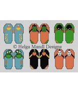 Happy Halloween Book flip flops 32 PDF cross stitch charts Helga Mandl D... - $13.50