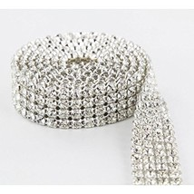 Crystal Cake Ribbons Real Rhinestones Bling Diamond Cake Ribbon Banding ... - $22.31