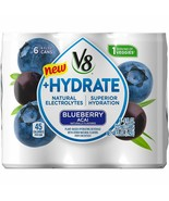 V8 + Hydrate Plant-Based Hydrating Beverage Blueberry Acai 8 oz Cans (Pa... - $24.70