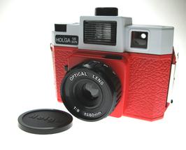 Sales - New RED WHITE Holga 120GCFN lomo camera (6x6 incld.) - $48.99