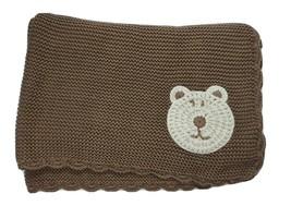 KOALA BABY Brown Knit BEAR Blanket HTF Lovey 2013 Babies R Us - $47.02