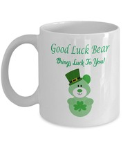 Good Luck Bear Brings Luck to You St. Patrick's Day Coffee Mug - $19.99