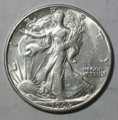 1946S alking Liberty Half Dollar 90% Silver Coin Lot# E 51
