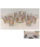 Libby Golden Foliage Ice Bucket & 6 Glasses - $62.00