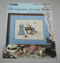 The Upstairs Sewing Room Leisure Arts 474 Cross Stitch Pattern Book 4 Va... - $9.41