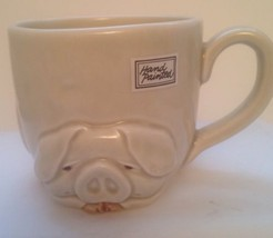 Fitz And Floyd Porky Mug Cup Vintage Hand-Painted Stickers 1977 - $14.84