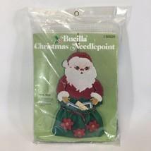 Bucilla Santa's Mail Bag Christmas Card Holder Jeweled Felt Needlepoint ... - $48.33